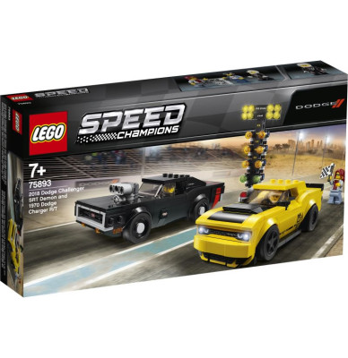 LEGO Speed Champions Dodge Challenger SRT Demon and 1970 Dodge Charger